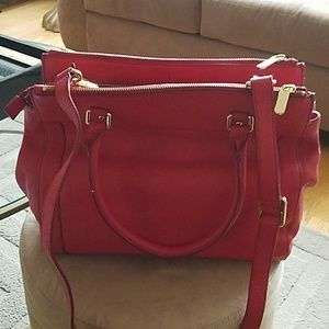Banana Republic red leather purse